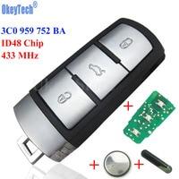 OkeyTech 433Mhz ID48 Car Remote Key 3C0 959 752 BA For VW Passat CC Car Key