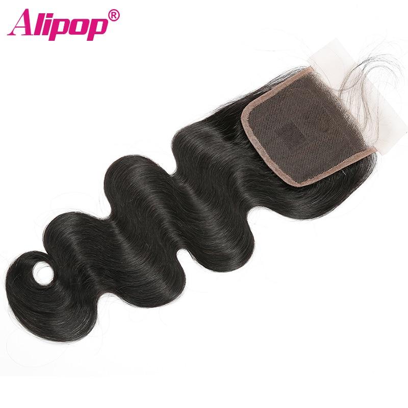 Peruvian Hair Body Wave Bundles With Closure Human Hair 3 Bundles With Closure ALIPOP 4