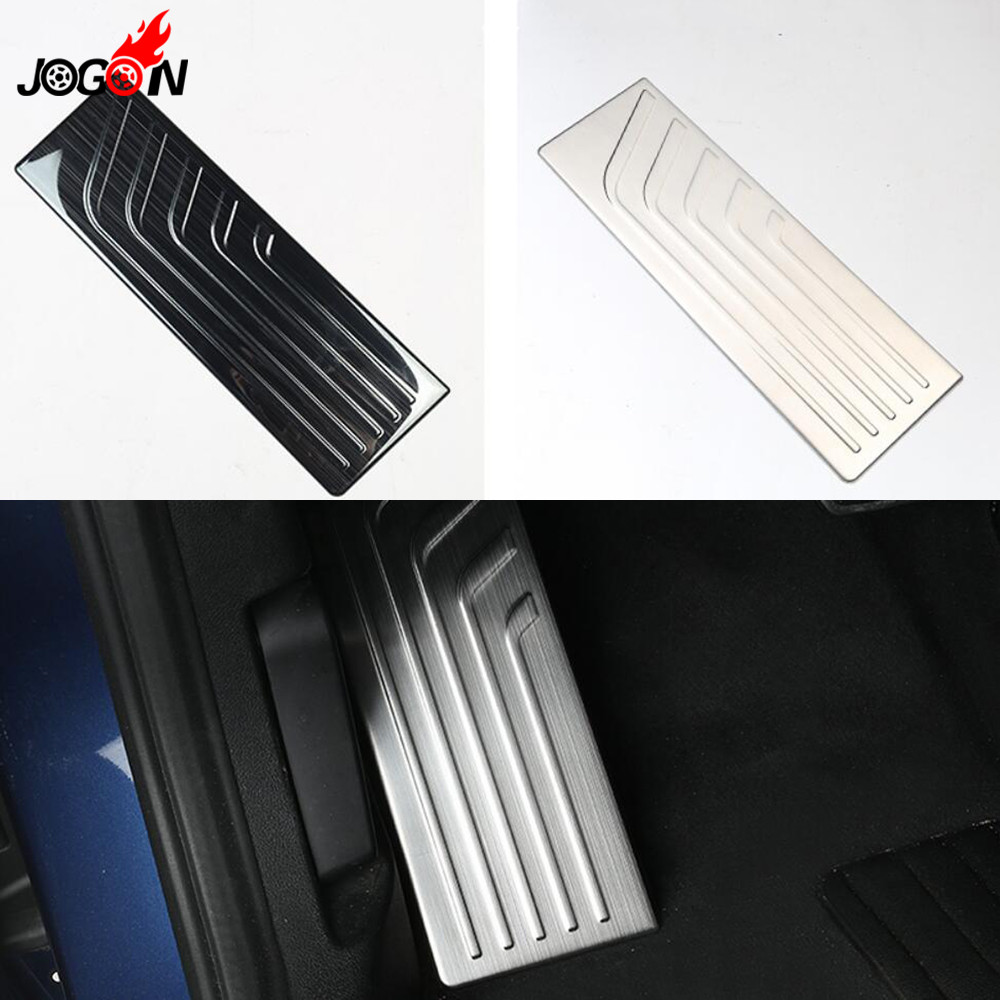 1pcs Stainless Steel Footrest Foot Rest Pedal Plate Pad Cover Trim For BMW X3 G01 2018