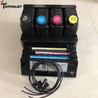 4 Цвета УФ-система сыпучих чернил для Epson принтеры Mimaki, roland, Mutoh Xenons Wit-color СНПЧ система подачи чернил 4 картриджа + 4 бутылки