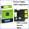 2PCS 40918 9mm Compatible Dymo Tape Labelmanager Label Black on Yellow Adhesive Laminated Same With Dymo D1 Label Tape