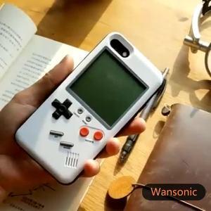 Image 2 - ゲームボーイ携帯電話ケース再生可能なケース内蔵タンク戦争テトリスゲーム電話ケース