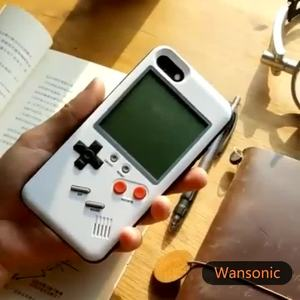 Image 2 - Gameboy etui na telefon komórkowy etui na telefon z wbudowanym Tank War gra tetris etui na telefon