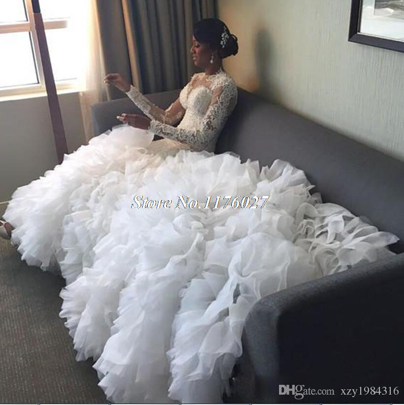 Hot Sale Red Mermaid Wedding Dresses 2017 Strapless Long Lace Appliques  Ruffled Tulle Skirt Bridal Dresses Wedding Gowns WA12USD 184.99 piece 06ce8f6cd761