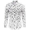 Marca de lujo de los hombres camisas slim fit stylish clothing negro blanco ocasionales de los hombres camisas de vestir de manga larga más tamaño m-xxxl