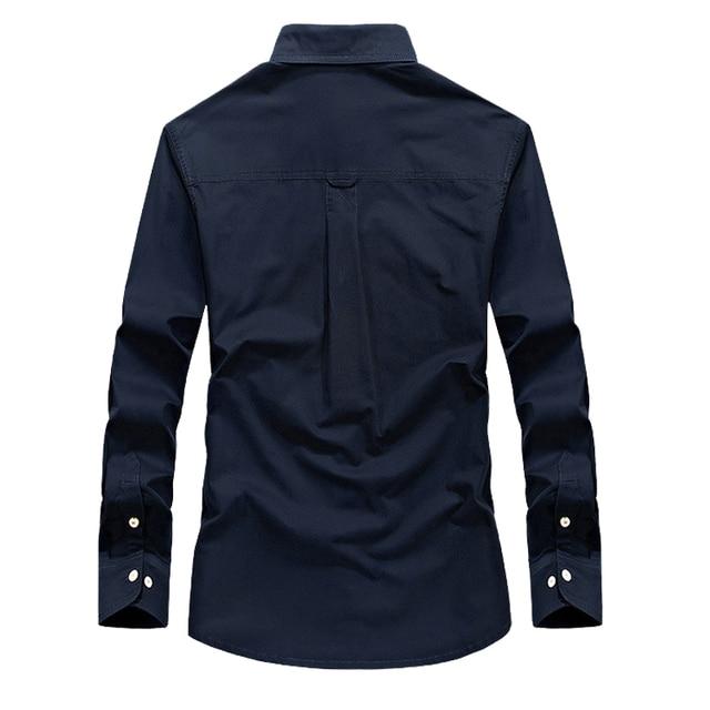 Мужская хлопковая рубашка с длинным рукавом стиле police 4