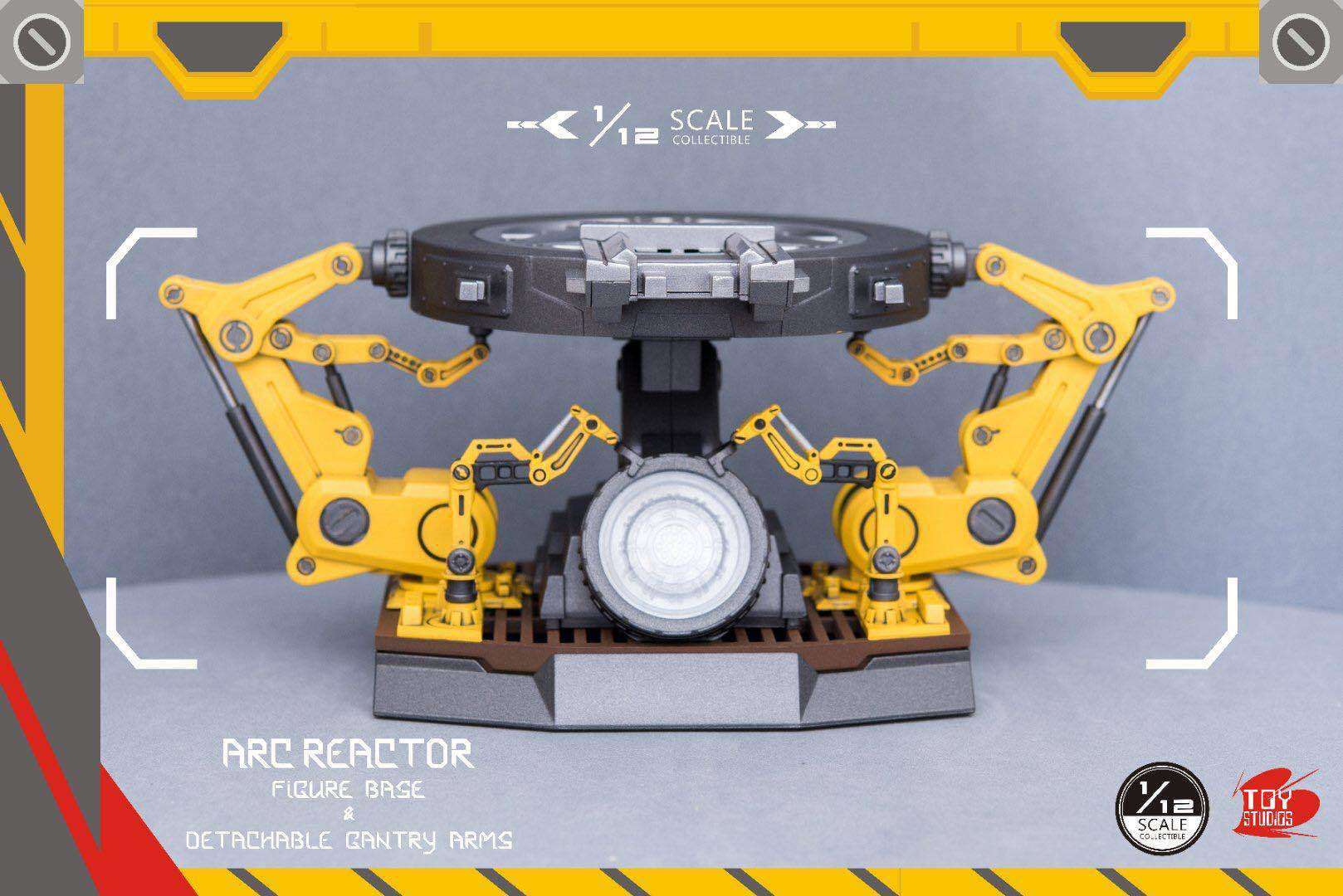Iron Man Arc Reactor 1/12 Scale Figure Base & Detachable Gantry Arms with Light