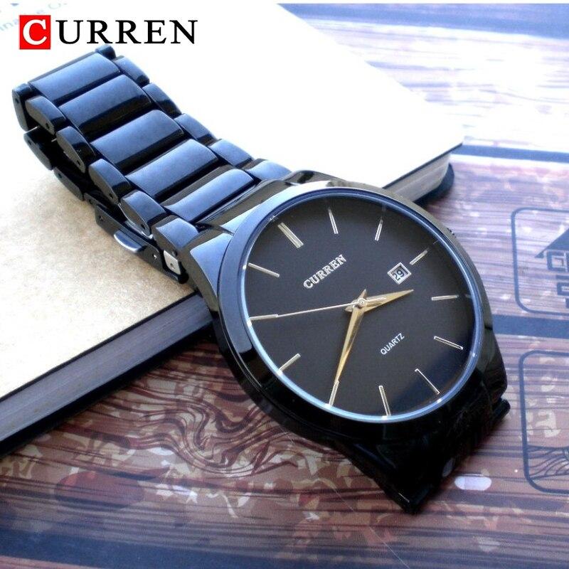 CURREN Fashion Simple Men Watch Slim Steel Strap Waterproof Watch For Men Quartz Business Watch Clock 8106 Relogio Masculino