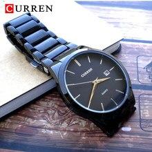 CURREN moda proste mężczyźni oglądać szczupły stalowy pasek wodoodporny zegarek dla mężczyzn zegarek biznesowy kwarcowy zegar 8106 Relogio Masculino