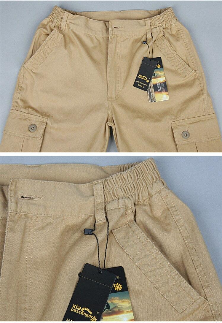 Moda estilo militar calças de carga dos