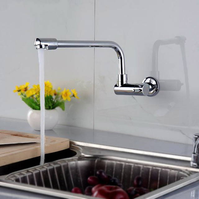 einzigen kalten wand wasserhahn kupfer waschbecken chrom k chenarmatur einzigen. Black Bedroom Furniture Sets. Home Design Ideas