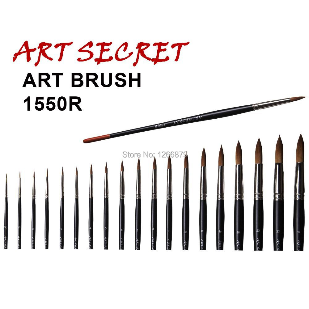1550R Taklon Hair Watercolor Art Supplies Paint Brushes For Artists Drawing Painting