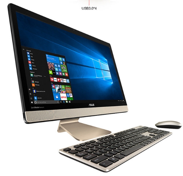 18.5 21.5 23.5 27inch touch screen wireless computer all in one DIY pc with i3/i5/i7+4GB+500GB+WIN7 desktops 1
