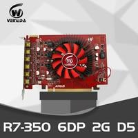Veineda R7 350 2GB GDDR5 128 Bit 6DP Multiscreen Display Card monitors PC Desktop PCI Express 2.0 HDMI for ATI