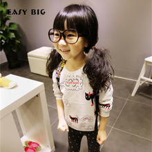 EASY BIG Spring Autumn Cotton Long Sleeve Children Sweatshirts For Girls Soft Pullover Top Shirts Kids Jerseys CC0123