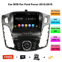 Android 6.0 CAR DVD player navigation FOR FORD FOCUS 2012-2015 car audio stereo head unit Multimedia GPS support 3G DTV DAB+