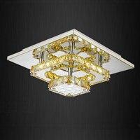 Modern Led Crystal Chandelier Small Ceiling Lights Flush Mount Light Fixtures For Living Room Kitchen Hallway