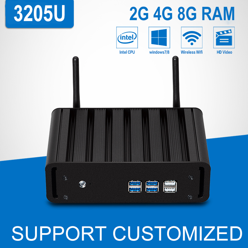 Mini PC Computer Intel Celeron 3205U Dual Core 1.5GHz 4G DDR3 RAM Mini Desktop Computador Mini Windows 10/8/Linux HTPC TV Box celeron j1900 mini pc intel dual lan core win7 linux windows desktop thin client micro computer mini pcs with ram 4g ssd 64g