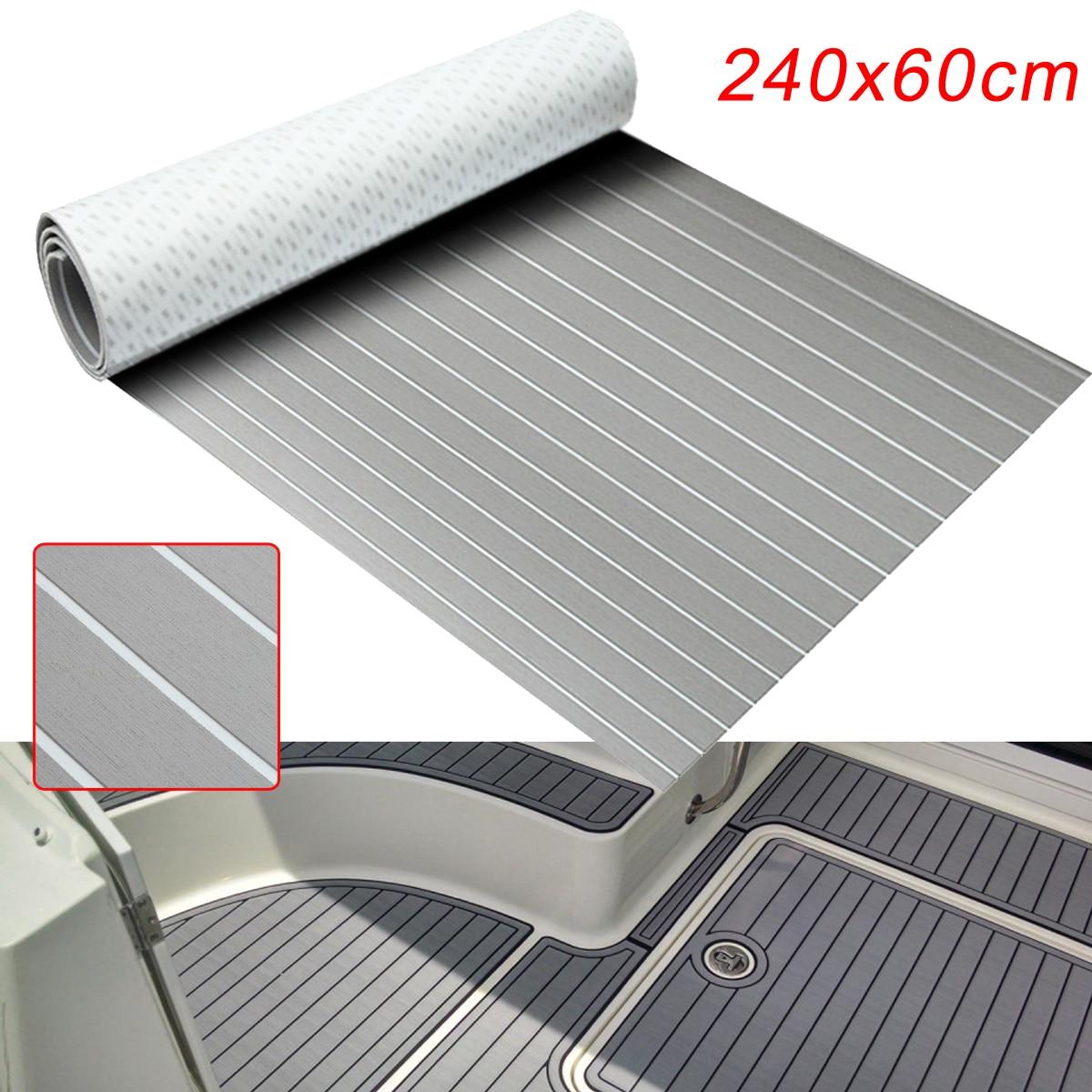 600x2400x6.5mm Self-Adhesive Marine Flooring Faux Teak EVA Foam Boat Decking Sheet