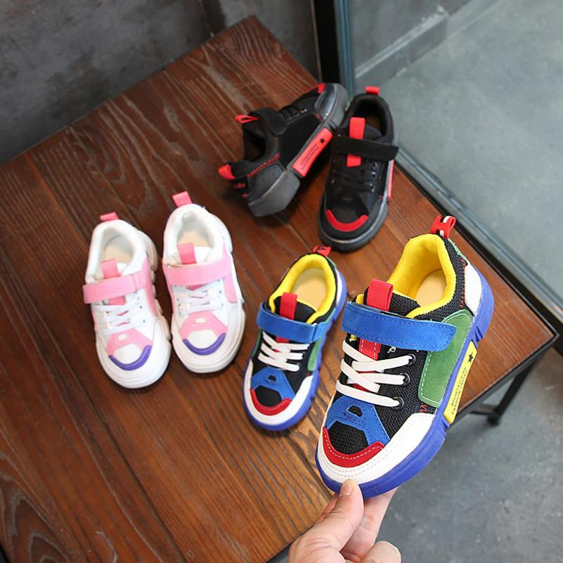 HaoChengJiaDe Children Running Shoes For Boys Sneaker Fashion Girls Sport Shoes Breathable Student School Kids Sneaker
