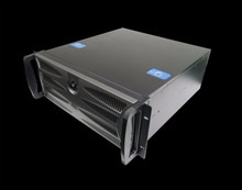 4u 450mm industrial computer case DVR Long Black Chassis 7 tank or14 tank rear window