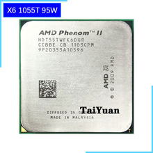 AMD Phenom II X6 1055T 1055 2.8G 95 واط ستة النواة معالج وحدة المعالجة المركزية HDT55TWFK6DGR المقبس AM3