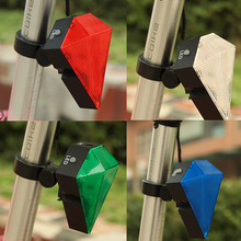 Bike Bicycle Cycling Cycle 8 LED 2 Laser Beam Tail Light Safety Rear Warning Lamp 3 Modes Rechargeable Lithium Battery A