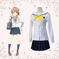 Anime Eromanga teacher Kano Megumi White Cosplay Skirt Sailor suit Cloth For Adult Women Party Halloween Cosplay Costume