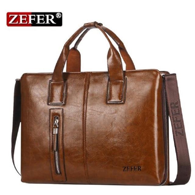 2835adc98e5c New ZEFER Brand NEW 2016 Handbags Fashion Versatile Composite Leather Zefer  Male Business Bag Briefcase Men