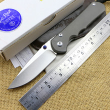 Folding Knife Chris Reeve D2 Blade TC4 Titanium alloy Handle Pocket Survival Knives Hunting Tactical Knife Camping Outdoor mk