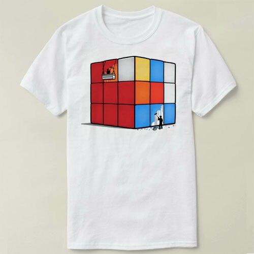 Initiative Solving The Cube Rubiks Cube Diy Tee 2018 Fashion Short Printed Funny T-shirt Men Tops Zl Tops & Tees Men's Clothing