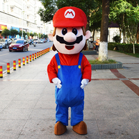 Super Mario Bros cosplay costumes mascot cosplay theme mascotte carnival costume cartoon character costumes Fancy party dress