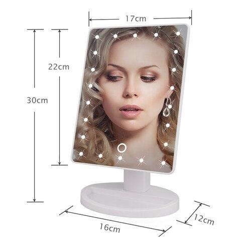 22 luzes led touch screen espelho de