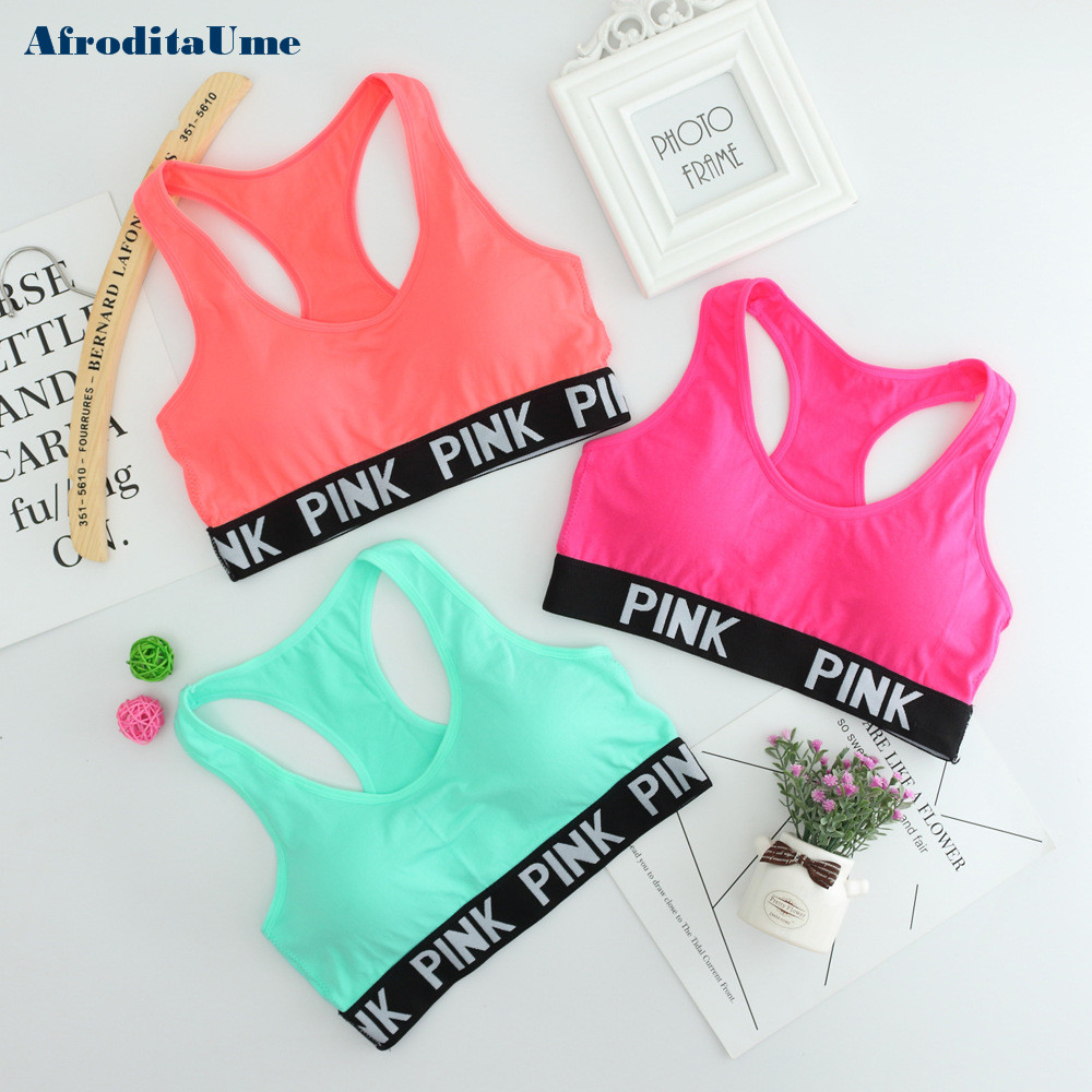 Women Casual Crop Top Cropped Padded Bra Tank Top Vest Fitness Workout Bras