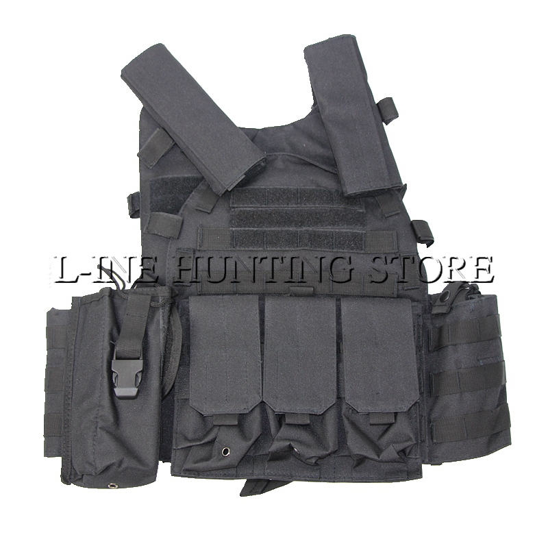 Black Multicam Tactical Molle Strike Plate Carrier Vest Steel Wire Vest Hunting Outdoor Military Equipment CP Camouflage Clothes