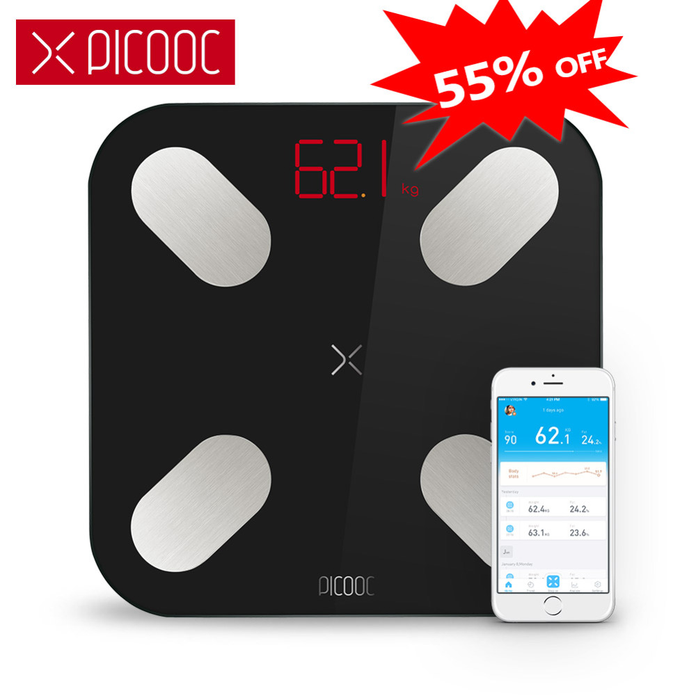 PICOOC Ми цифровые весы средства ухода за кожей вес Smart Шкала Веса электронные Bluetooth применение для ванная комната открытый с приложением Android ...