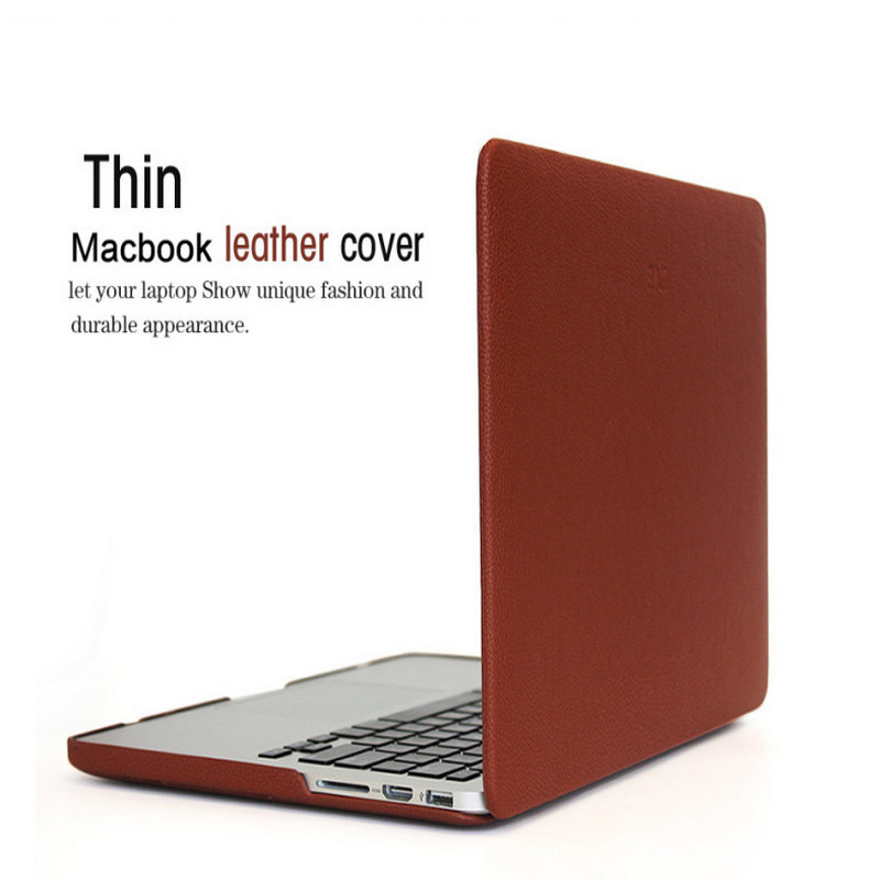 laptop case ZVE retro leather Cover Shell For Apple Macbook