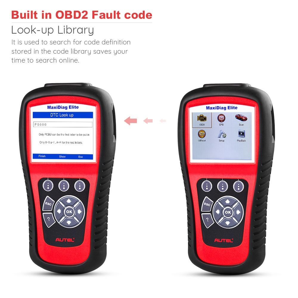 Image 4 - Autel MaxiDiag Elite MD802 OBD2 Scanner Car Diagnostic Tool Code Reader Engine ABS Airbag SRS Engine EPB Automotive Code Reader