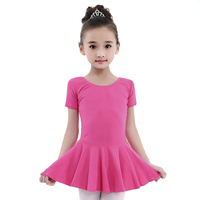 2018 New Hot For Girl Kids Ballet Dance Dress 8Colors Lycra Cotton&Nylon Material Open&Closed Crotch Princess Leotard Vestido