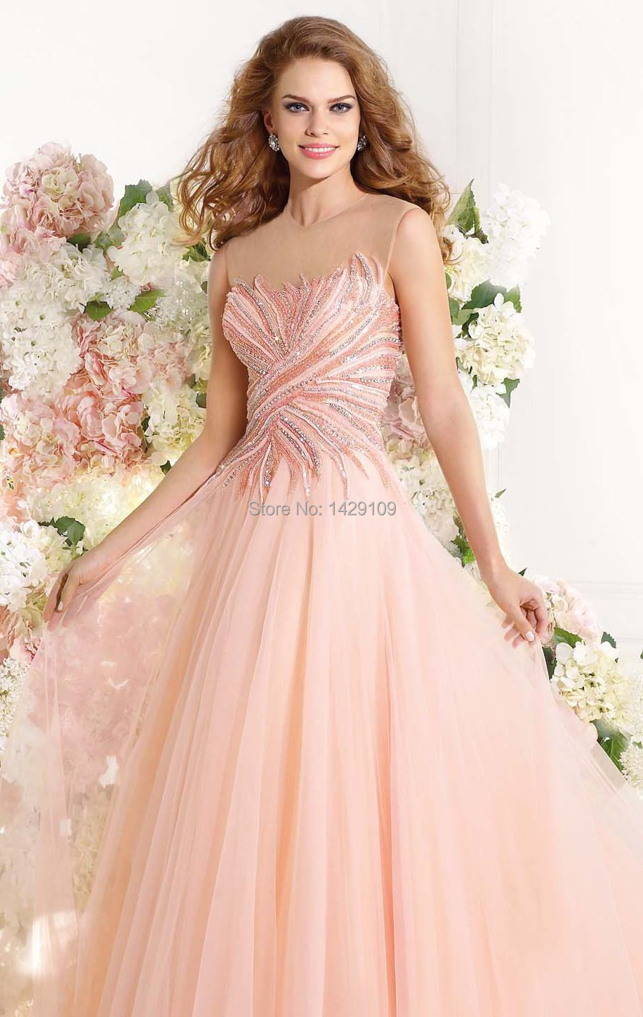 Robe De Soiree 2015 Romantic Tulle Long Evening Gowns Luxurious ...