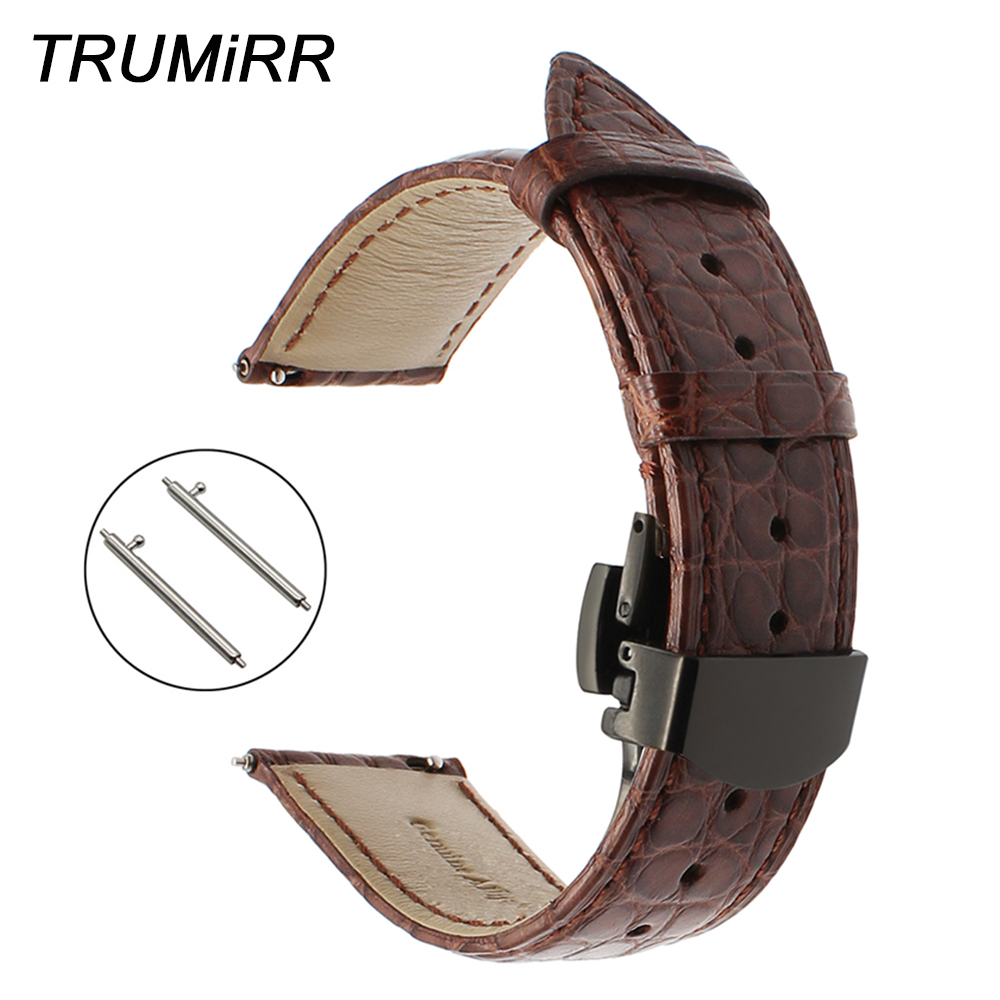 18mm 20mm 22mm Genuine Alligator Leather Watchband for Rado Bell & Ross Oris Montblanc Watch Band Steel Butterfly Buckle Strap