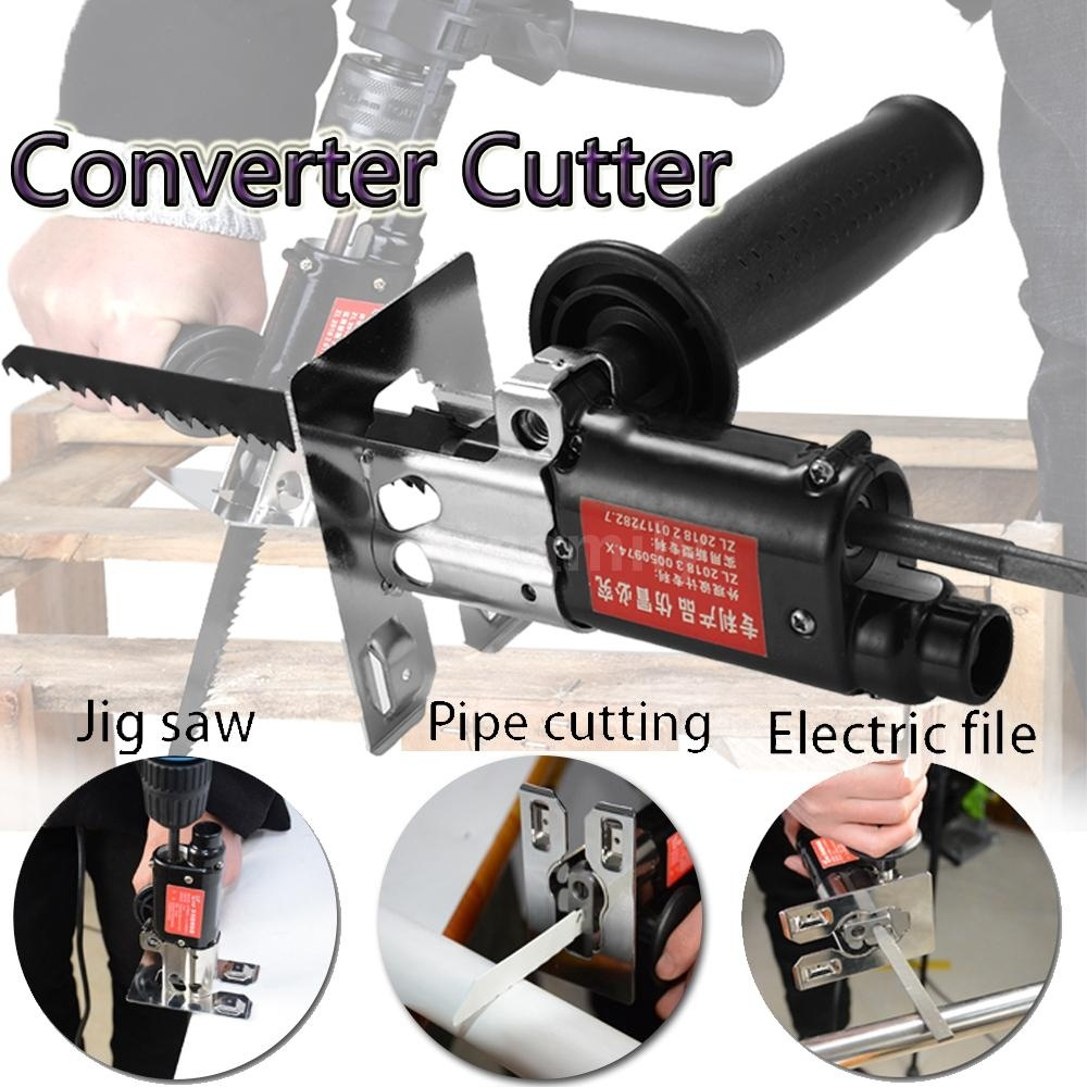 Multifunction Reciprocating Saw Attachment Change Electric Drill Into Reciprocating Saw Jig Saw Metal File for Wood Metal CutingMultifunction Reciprocating Saw Attachment Change Electric Drill Into Reciprocating Saw Jig Saw Metal File for Wood Metal Cuting