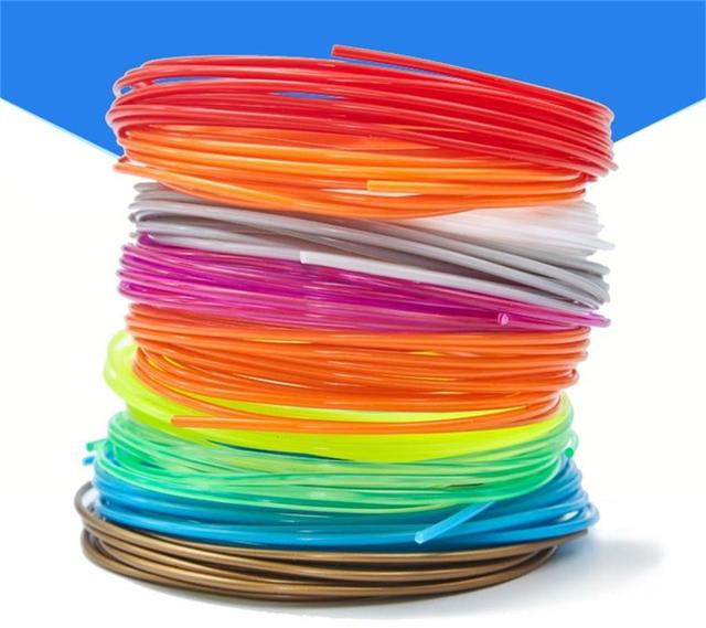 5 Pieces (Min. Order) 10M 3d PLA Filament 1.75mm Material 3D Printer Pen Filament high temperature glowing filment flament 1