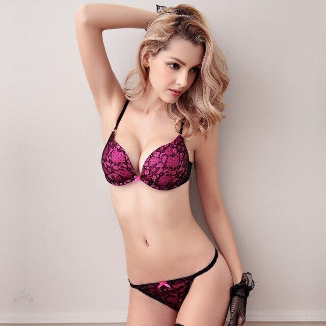 Hot sale 2016 summer sexy lace bra brief sets loita bra set girl ultra-thin push up bra for women underwear bra and panty sets