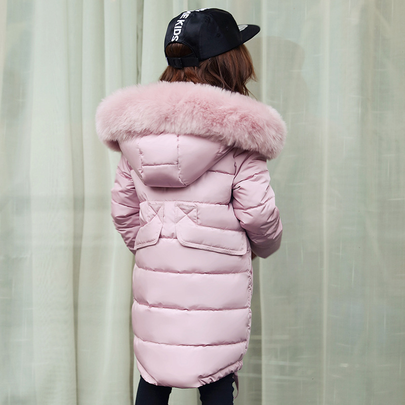 f06e912ebe6a New Winter Jacket Girl Hooded thickness warm Doudoune Enfant Fille ...