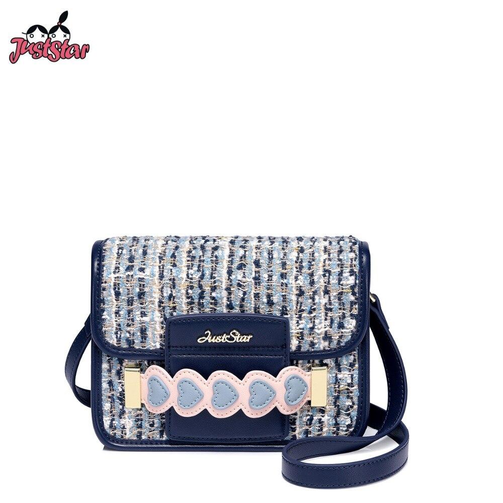 d370c90810 Flap Blue De Dames Laine Marque Femelle Sacs Messenger allumette Mode  Bourse Tout Bandoulière Femmes Star ...