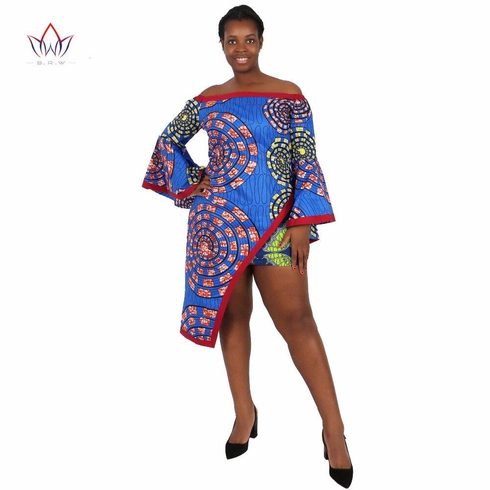 BRW Vêtements africains 2 Pièce Ensemble Femmes Robe Costume Crop - Vêtements nationaux - Photo 4