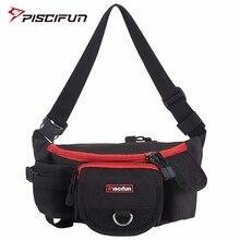 Piscifun Multifunctional Waterproof Zipper Fishing Bag Lure Waist Pack Bag Pole Package Mulit Pocket Fishing Tackle Bag
