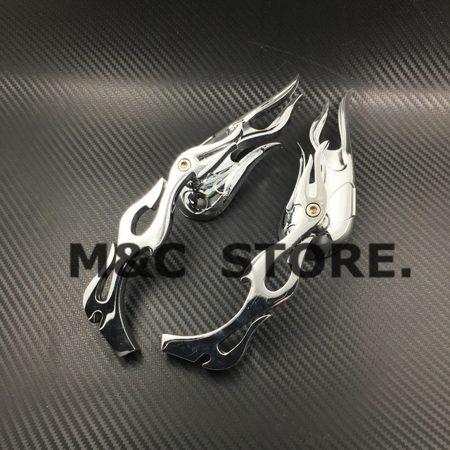 Miroir de flamme chromé Harley | Pour moto, Chopper Bobber rétroviseur latéral pour Kawasaki VULCAN VN 750 800 900 1500 1600