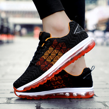 Купить с кэшбэком Sport Shoes For Men Cushioning Air Sole Mens Summer Running Shoes Breathable Mesh Sports Sneakers Men Shoes For Running